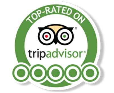Five Stars on Tripadvisor